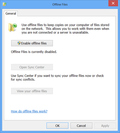 How to use offline files